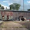 Machine shop (ADMurr) Tags: memphis machine shop industrial corrugated afternoon tree tower cement rolleiflex 28 f 80mm planar zeiss mf square dab265 kodak portra sign handpainted danger asbestos