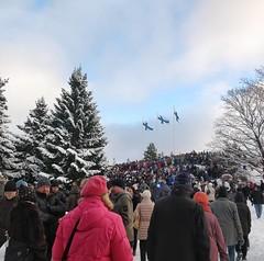 Kalevankankaan itsenäisyyspäivän juhlallisuudet. Hieno tilaisuus #suomi100
