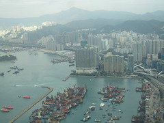 IMG_0546 (Sweet One) Tags: icc sky100 observationdeck view city skyline buildings towers hongkong harbour