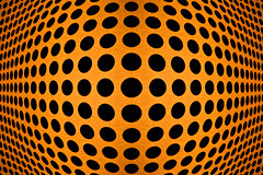 expansion of black dots (..ChEn..) Tags: graphicdesign pattern circle dot copper sphere visualillusion order