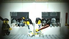 The Last School Day (Force Movies Productions) Tags: weapons eastern lego toy toys youtube outbreak conflict photograpgh photo picture photograph pose animation asia asian stopmotion scene diorama film frame fiction gear japanese japan legophotograghy zombie zombies bats custom cool china chinese brickarms bricks brickfilm brickizimo brickmania brick minfig minifig minifigure minifigs school infection infected
