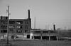 and Cleveland (gregador) Tags: cleveland ohio skyline decayed abandoned urbex urbanexploring urbanexploration blackandwhite monochrome industry