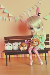 Himeko & friends (-gigina-) Tags: himeko doll carnival pullip shanti rewigged nikon d3100 50mm cure chick tinkerbellkawaii obitsu chantilly