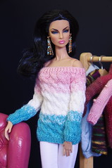 by GEMINI ~ New knitwear collection F/W'17 (~ GEMINI ~ doll fashion) Tags: eugenia vivacite fashion royalty integrity ooak knitting knitwear handmade miniature