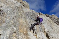 discesa in doppia (Tabboz) Tags: montagna dolomiti vianormale roccia panorama vetta cima croce marmolada salita sentiero ghiaione corda discesa cordadoppia