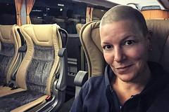 The human in seat 16 (Melissa Maples) Tags: antalya turkey türkiye asia 土耳其 apple iphone iphone6 cameraphone busstation otogar travel vehicle coach bus me melissa maples selfportrait woman brunette shavedhead bald