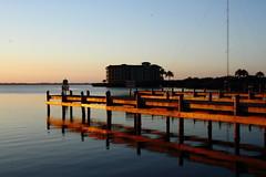 IN THE MORNING (R. D. SMITH) Tags: sunrise canoneos7d indiadriver florida river water buiding morning dock melbourneflorida brevaedcountyforida