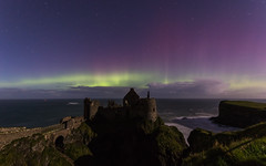 Northern Lights at Dunluce Castle, Portrush (nstirling) Tags: northernireland northernlights aurora night nighttime castle canon canoneos750d auroraborealis natural naturalwonder nightscape nightsky lights dunlucecastle discoverni ocean sky sea landscape