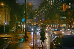 Vancouver Main Street Winter Night (anthonymaw) Tags: vancouver canada weather westcoast winter
