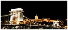 Castello di Buda e Ponte delle Catene (Valdy71) Tags: budapest buda castel castello ungheria bridge nikon valdy night skyline ngc