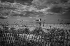 Emptiness (jah32) Tags: beach beaches portstanley port poc ontario canada sky skies autumn fall fence fences elgincounty monochromatic monochrome water lakeerie lake lakes thegreatlakes greatlakes moody blackandwhite bw blackwhite cmwdbw
