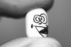 Psycho Mint (Neal.) Tags: macromondays mint tictac psycho menthol fingertips