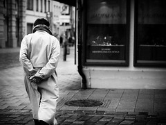 sunday walk (Sandy...J) Tags: alone blackwhite bw black street streetphotography sw schwarzweis strasenfotografie city monochrom man urban walking white walk noir germany deutschland olympus fotografie photography hands mono mann