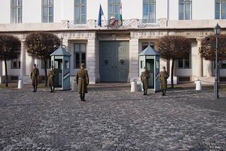 Budapest change guards castle