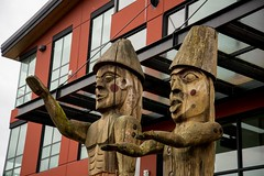 DSC_8375 (Copy) (pandjt) Tags: chilliwack bc britishcolumbia stólō stolo firstnation welcomefigures welcome sculpture carving publicart stólōnation