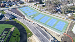 Oak Lawn Hugh School OLHS (Rick Drew - 21 million views!) Tags: oak lawn hugh school olhs football jogging track field outside tennis courts blue green il illinois schools education drone dji aerial spartans teaching