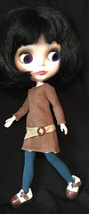 Caramel Brown Soft Corduroy Mod Outfit...For Blythe...