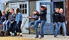 Hoedown (thomasgorman1) Tags: people employees goldmine tourism dancing hoedown smiling alaska canon fairbanks fun goldmining history