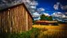 Barns (Topolino70) Tags: nokia lumia 1020 barn lato field pelto autumn syksy grass weed blue sky cloud kangasala finland