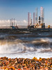 Cold-Industrial-Wild (Stoates-Findhorn) Tags: autumn 2017 scotland cromarty rossandcromarty oilrig benwyvis sea firth drillingplatform mountain snow waves unitedkingdom gb