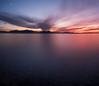 Chiemsee Panorama (explored) (louhma) Tags: nikon d750 bavaria seebruck chiemsee sonnenuntergang sunrise colorful moon lake evening outdoor wasser water natur deutschland explore explored