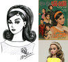 Miss Saigon (duckhoa_le) Tags: poppy parker young sophisticate fair integrity toys fashion royalty draw drawing sketch illustration doodle art 60s 1960s 1960 mod style vintage classic hairstyle cô ba sài gòn vietnam ninh dương lan ngọc girl painting woman