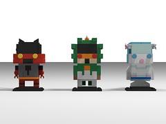 alola starters brickheadz (Dewott boy) Tags: pokemon pokemonultrasunultramoon alola lego moc brickheadz