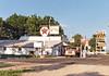 Texaco Gas Station   Sarcoxie MO (kyfireenginephoto) Tags: country coke truck i44 missouri pepsi carthage texaco 7up soda sign gmc sarcoxie 1987 icecream rv cocacola joplin jasper store pump rural