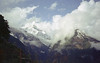 Annapurna Sanctuary trek, Nepal 1993 (Amanda Lane 2020) Tags: mountains himalayas nepal views snowcappedmountains annapurna annapurnasanctuary valley bluesky clouds trekking hiking olympus mjuii film