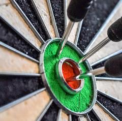 Member's Choice: Games or Game Pieces (Harry McGregor) Tags: memberschoicegameorgamepieces macromondays darts dartboard bullseye redandgreen harrymcgregor nikon d3300 24 november 2017