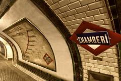Estación de Chamberí. Madrid (vpogarcia) Tags: colors metro españa spain street old classic estación fantasma subway madridchamberí