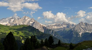 Grandeur dolomite, Val di Fassa, province de Trente, Trentin-Haut Adige, Italie.
