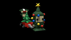 Pete Fountaine (Gremlins) (keiththelegokid) Tags: gremlins lego keiththelegokid stripe christmas chibi tree spruce wagon studio brickheadz
