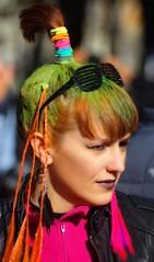 Multicolored girl (Edgard.V) Tags: femme femina femaile color couleurs colori cores mulher garota ragazza cheveux hair cabelos orange laranja arrancio verde