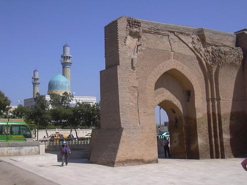 Raqqa, Reste des Bagdhdad Tores (Bab Baghdad) der Alten Stadtmauer (As-Sur), 8. Jhdt.