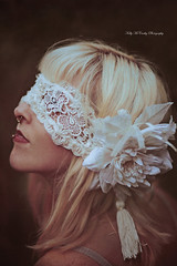 White Vision (Kelly McCarthy Photography) Tags: woman model beautiful beauty fashion style portrait portraiture closeup gothic profile victorian lace mask masked flower antique vintage conceptual piercings piercing alternativemodel nosepiercing lippiercing lipstick photoshoot blonde
