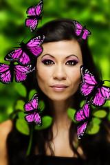 press 11 (Sunfrontier) Tags: portrait model campaign profile headshot female girl woman alienbees strobe flash
