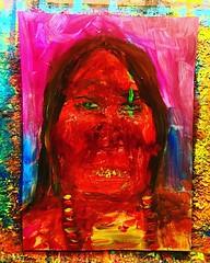 #painting #art #artwork #indian #illustration #nativeamerican #contemporarypainting #indianpopart #artpop #artbasel2017 #artgallery #nativeamerican #contemporaryart #comanche #portrait #blacklightart #artist #gregggriffin #oklahomaartist #studio #artstudi (Gregg Griffin) Tags: instagramapp square squareformat iphoneography uploaded:by=instagram clarendon art painting gregggriffin oklahoma artist popart contemparyart modernart fineart originalart native american indian