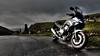 Bleak (Andy Tee) Tags: motorbike motorcycle honda cbf600 cbf600s moel famau wales hdr moody sky clouds rain storm