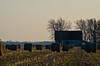 Barn and Bales (ramseybuckeye) Tags: round bales corn field barn allen county ohio farm