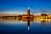 Stockholm City Hall @ blue hour (Binas.) Tags: cityhall stockholm stadshuset bluehour nice night kungsholmen longexposure mälarstrand grodhavet mälaren