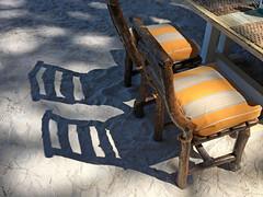 Twin chairs (VillaRhapsody) Tags: chairs two pair shadow yellow beach help fethiye summer challengeyouwinner cyunanimous