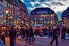 Place Kleber à Strasbourg (thierrybalint) Tags: nikoniste strasbourg noël marché lumières décoration guirlandes lampadaire