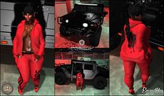 L O T D # 269 (Jessie Khaos (Blogger/Event Planner)) Tags: jessiekhaos jessie khaos kingdomheiressblog heriess blog blogspot fashionblogger fashion blogging blogger secondlifeblogger secondlife second life 2ndlife sl avatar ava avi virtuallife virtualworld virtual catwa catya meshhair hair foxyhair foxy red black luxury truck car vehicle indulge group indulgeautomotivegroup automotive envyher envy her meshbody belleza meshshoes sneakers tennis graffiti gold jeep eliteevent elite event backdrop background diamond dope bigbody big body