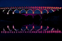 Pont du Gard at blue hour (natureloving) Tags: romanaqueducts pontdugard reflection france architecture monuments southoffrance gard natureloving nikon d90 nikonafsdxnikkor18300mmf3563gedvr