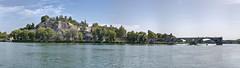 sur le pont ... (David Kracht) Tags: avignon bridge water river france summer pano panorama 100 megapixel 100megapixel pont