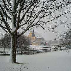 Castle in the snow (eikeblogg) Tags: snow wintertime castle buildings rural trees white snowfall village scenic mobilephotography mobileartistry ngc