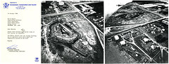 Black and White Aerial Photographs of Fort Lytton, Brisbane (Queensland State Archives) Tags: brisbane fortlytton military encampment queensland historicbuildings aerial photgraphy document