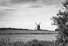 Quixotic visions (The Frustrated Photog (Anthony) ADPphotography) Tags: architecture bedfordshire category england external landscape places stevington travel windmill mono monochrome canon canon1585mm canon70d travelphotography landscapephotography rural agriculture trade mill farm farming crop field grass fallow trees blackandwhite whiteandblack bw english british countryside sky