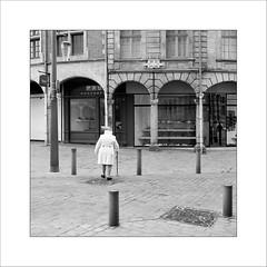La dame à la canne (Panafloma) Tags: 2017 arras artois fr france géographie hautsdefrance pasdecalais techniquephoto photoderue province streetphoto streetphotography